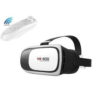 Kanstar VR BOX V2 3D Headset Glasses VR Virtual Reality 3D Video Game Glasses W/ Remote
