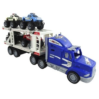 Toy Monster Truck & Trailer Play Set