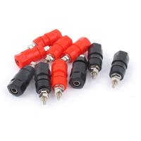 Unique Bargains 10 Pcs Red Black Plastic Shell Speaker Amplifier 4mm Banana Plug Binding Post