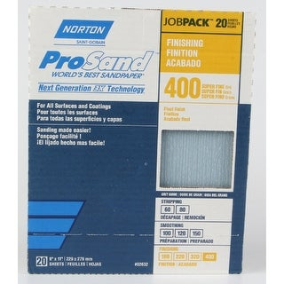 Norton 50618-038 ProSand Sandpaper, 400 Grit