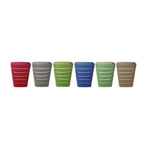 Set of 6 Square Tumblers with Design