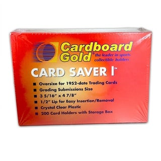 200ct Box of Card Saver 1 - Semi Rigid Graded Card Toploader Holders - New