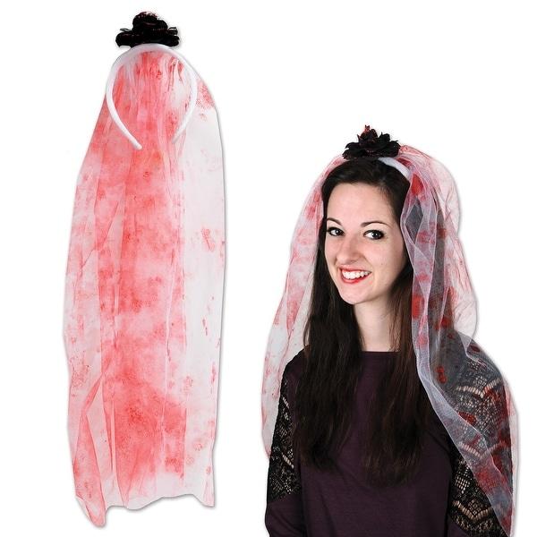 Halloween Bride.Club Pack Of 12 Halloween Bride Bloody Veil Headband 20 N A