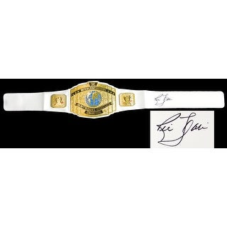 Ric Flair Signed WWE Intercontinental Championship White Replica Belt