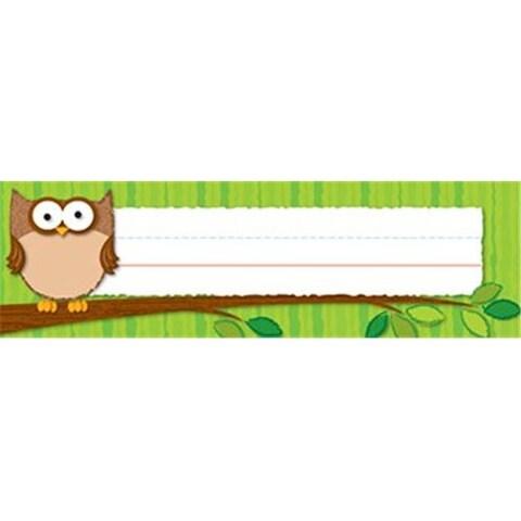 Carson Dellosa CD-122016 Owls Desk Nameplates