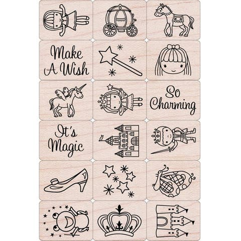 Ink 'n' Stamp Fairy Princess Stamps, Set of 18 - One Size