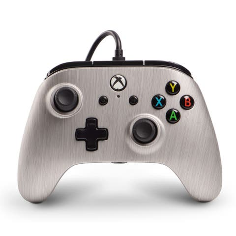powerA Wired Xbox One Controller (Silver)(New Open Box) - Silver - 4 x 3 x 5 in; 1.2 lbs