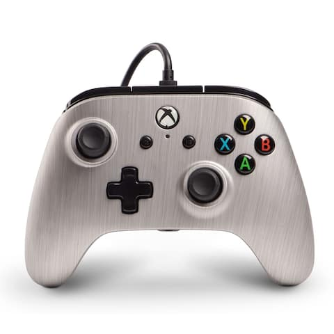 powerA Wired Xbox One Controller (Silver) - Silver - 4 x 3 x 5 in; 1.2 lbs