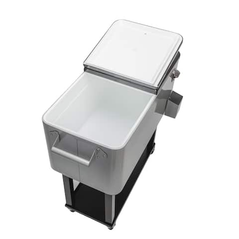 80QT Outdoor Iron Spray Cooler with Shelf