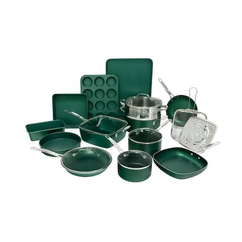 Granitestone Diamond Emerald Non Stick 20pc Cookware and Bakeware Set