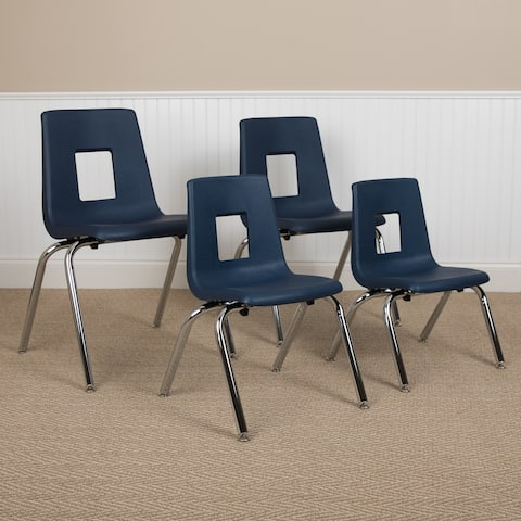 """Student Stack Chair 16""""H Seat - School Classroom Chair for 3rd-7th Grade"""