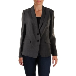 BOSS Hugo Boss Womens Julara Two-Button Blazer Wool Checkered