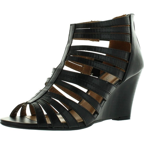 Bonnibel Trina-1 Womens Strappy Back Zip Wedge Sandals