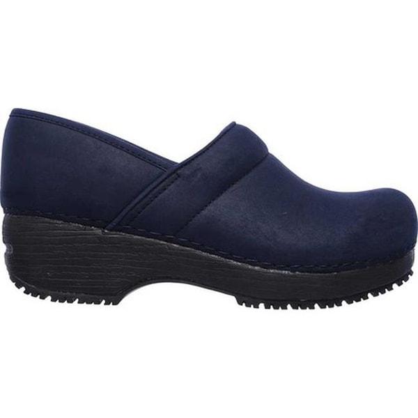 Work Clog Slip Resistant Shoe Navy