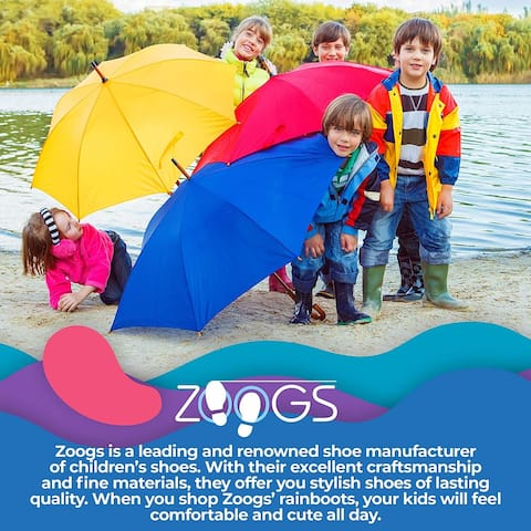 ZOOGS Kids Waterproof Rain Boots for Girls, Boys, and Toddlers Black - 13
