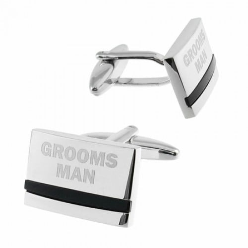 Groomsman Cufflinks With Onyx Wedding Marriage