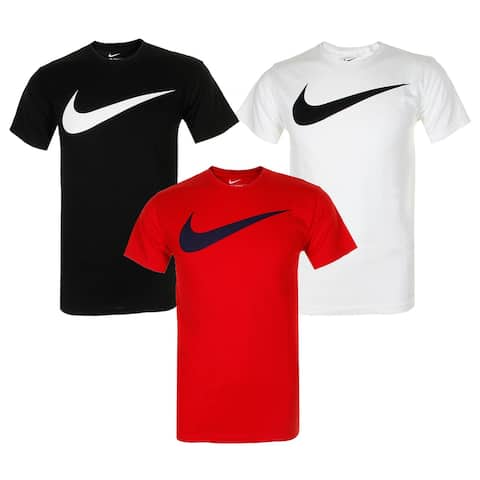 Nike Men's Athletic Wear Short Sleeve Swoosh Graphic Workout Active Gym T-Shirt
