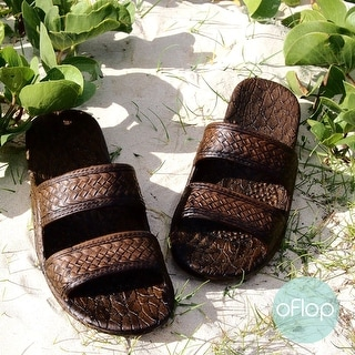 Link to Pali Hawaii Jandals DARK BROWN with Certificate of Authenticity Similar Items in Women's Shoes