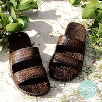 Pali Hawaii Jandals DARK BROWN with Certificate of Authenticity