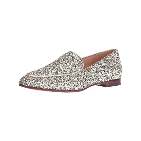 Kate Spade Womens Calliope Loafers Glitter Almond Toe