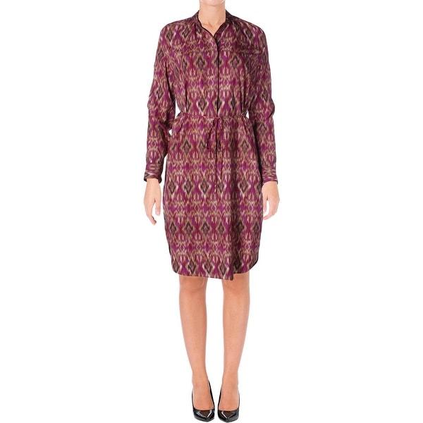 Lauren Ralph Lauren Womens Jenalino Casual Dress Printed Long Sleeves