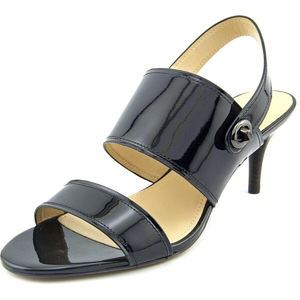 Coach Marla Women Open Toe Patent Leather Black Sandals