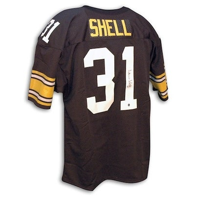 a544cd6d940 Shop Autographed Donnie Shell Pittsburgh Steelers black Throwback Jersey -  Free Shipping Today - Overstock - 13074604