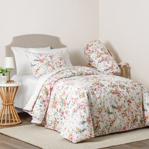 Carmela 4-piece Floral Print Full/Queen Comforter Set
