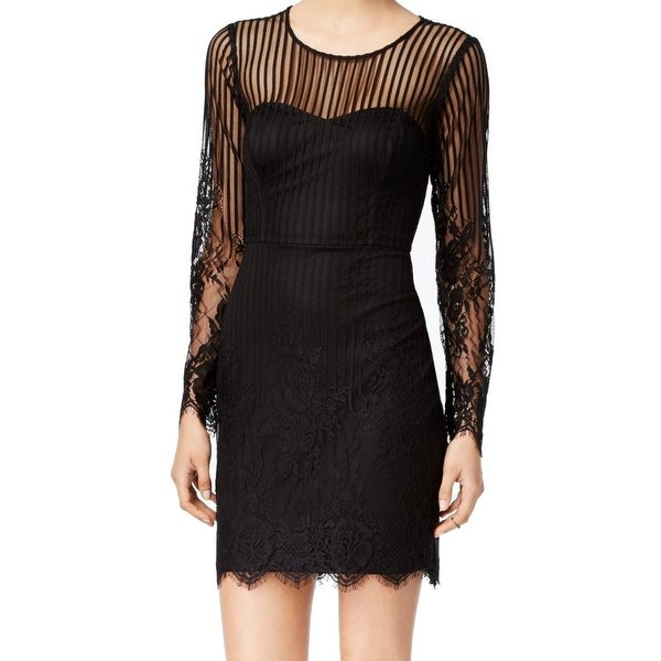 dbfaf247 Shop Guess NEW Black Womens Size 6 Lace Illusion Cutout Back Sheath Dress - Free  Shipping On Orders Over $45 - Overstock - 19510655