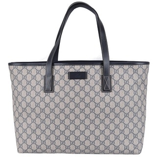 NEW Gucci 211137 Beige Blue GG Supreme Coated Canvas Purse Handbag Tote
