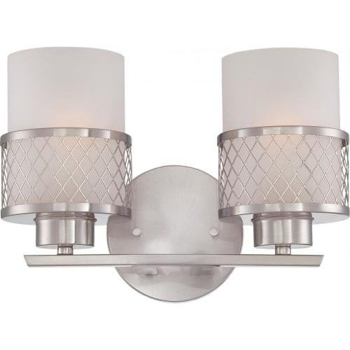 Nuvo Lighting 60/4682 Fusion Two Light Bathroom Fixture with Frosted Glass