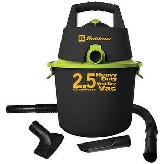 Koblenz WD-2.US 2.5-Gallon Wet & Dry Vacuum, Black