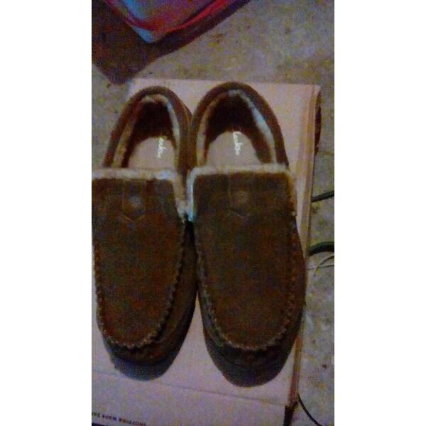 92fd549b7f9 Shop Clarks Men's Venetian Moccasin Slipper Brown Leather - Free ...