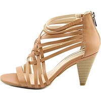 INC International Concepts Womens Garoldd Leather Open Toe Ankle Strap Classi...