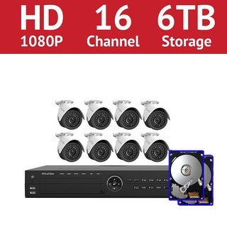 LaView 16 Channel 1080p IP NVR with (8) 1080p Bullet Cameras and a 6TB HDD