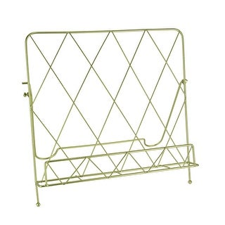 Link to Polished Gold Finish Metal Countertop Cookbook Holder Similar Items in Bakeware