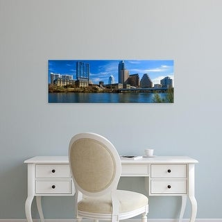Easy Art Prints Panoramic Images's 'Skyscrapers at the waterfront, Lady Bird Lake, Austin, Texas, USA' Canvas Art