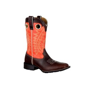 Durango Western Boots Mens Mustang Pull On Brown Orange DDB0120
