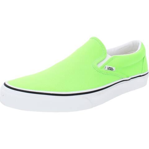 Vans Mens Classic Skate Shoes Lifestyle Slip On - (Neon)Green Gecko/True White