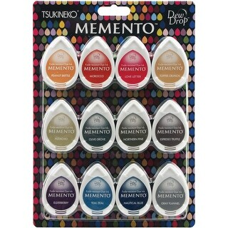Snow Cones - Memento Dew Drop Dye Ink Pads 12/Pkg