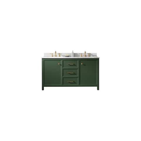 "Legion Furniture 60"" VOGUE GREEN DOUBLE SINK VANITY WLF2160D-VG"