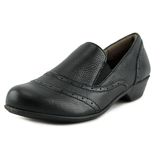 Comfortiva Rose Women N/S Round Toe Leather Black Loafer