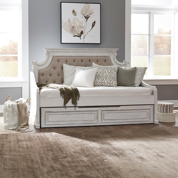 Magnolia Manor Antique White Twin Trundle Bed. Opens flyout.