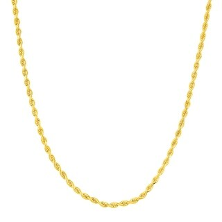 Solid Glitter Rope Chain in 10K Gold-Bonded Sterling Silver
