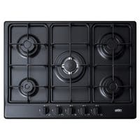 "Summit GC527 27"" Wide Built-In Gas Cooktop with Sealed Sabaf Burners and Dual Flame Burner"