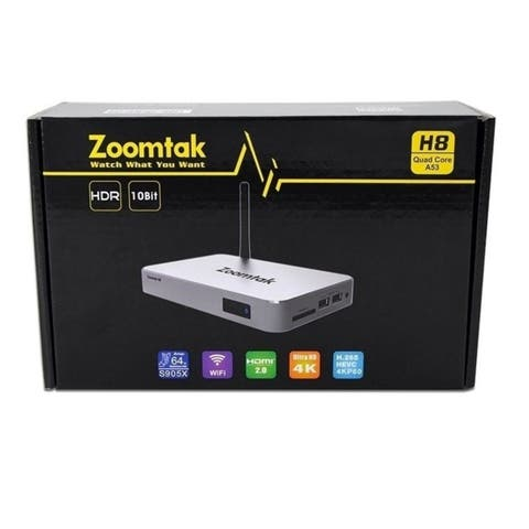 Zoomtak H8 Fully Loaded Entertainment 4K Android Tv Box Media Streaming Player