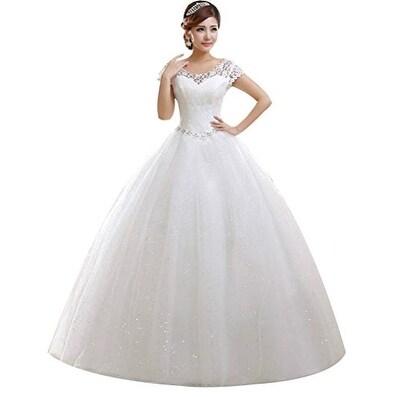 Shop Eyekepper Double Shoulder Floor Length Bridal Gown Wedding ...