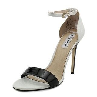 Steve Madden Stuningg Women Open Toe Synthetic Black Platform Heel