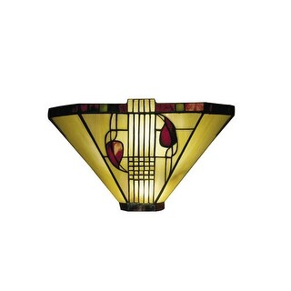 "Dale Tiffany 2725/1LTW 9"" Henderson Sconce with Candelabra Base and 1 Light"
