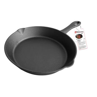 Bene Casa 10-inch cast iron skillet with long handle, pre-seasoned skillet, suitable for all cooking surfaces